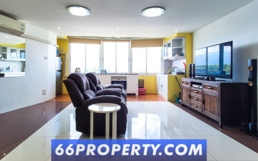 , 80 SQM. 1 Bedroom and 1 office. Condo for Rent near Lanna Hospital off Superhighway