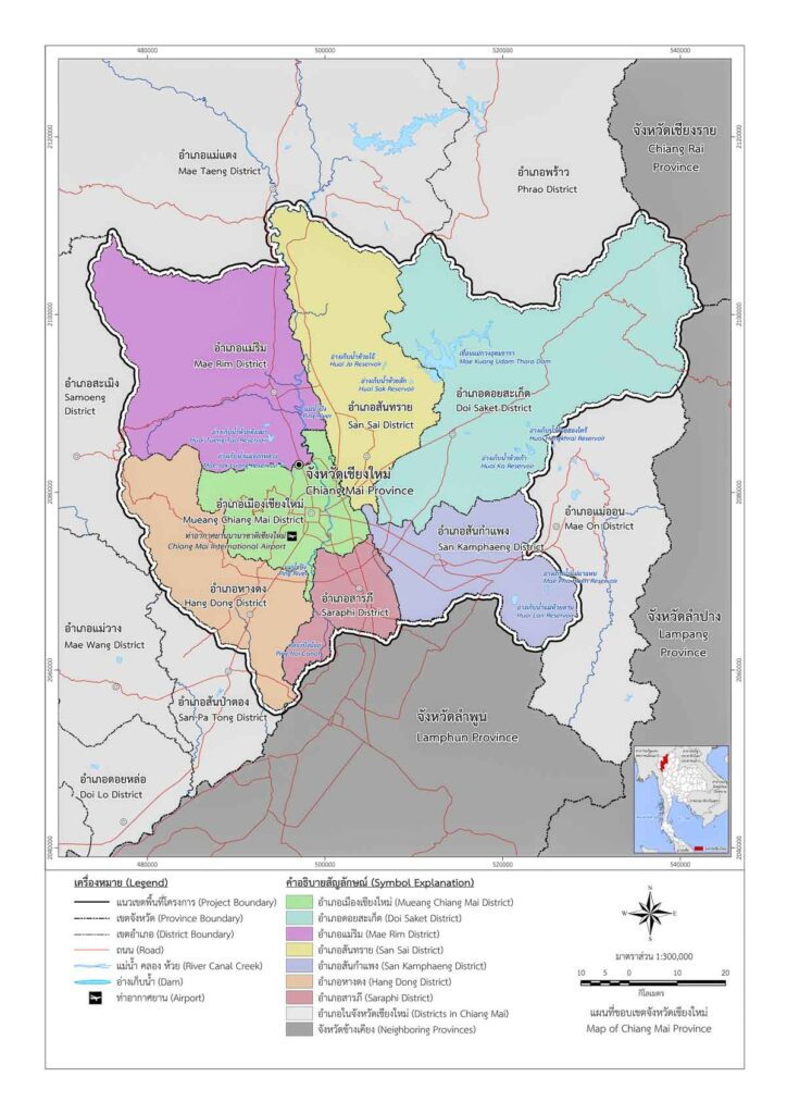 map of districts chiang mai, Maps of Chiang Mai Districts and Sub-Districts